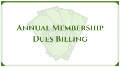 Annual Membership Dues Billing